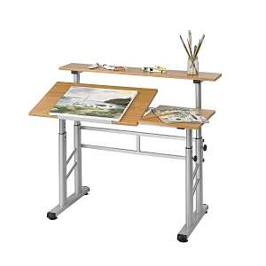 Safco Height-Adjustable Split Level Drafting Table