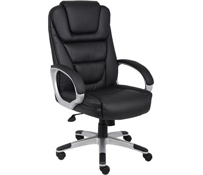 Boss black Leatherplus High-Back Chair