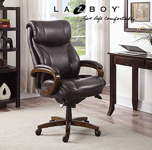 La-Z-Boy Trafford Big and Tall Leather Office Chair