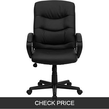 Flash Furniture Mid-Back Black Leather chair
