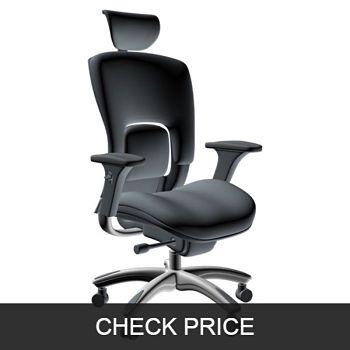 GM Seating Ergolux Genuine Leather Executive Chair