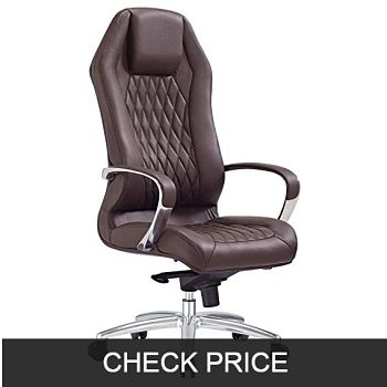 Modern Ergonomic Sterling Genuine Leather Executive Chair