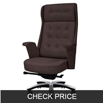 Rockefeller Genuine Leather High Back Executive Chair