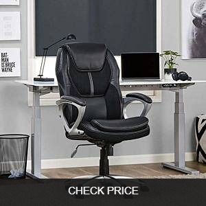 Serta Works Executive Faux Leather and Mesh Office Chair