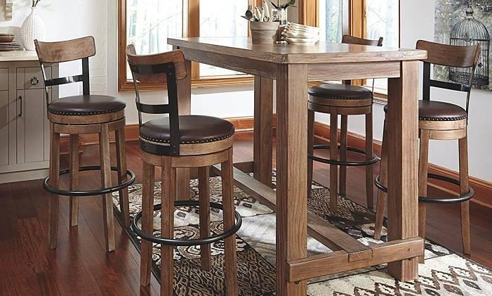 Ashley Furniture Signature Design Pinnadel Swivel Bar Stool