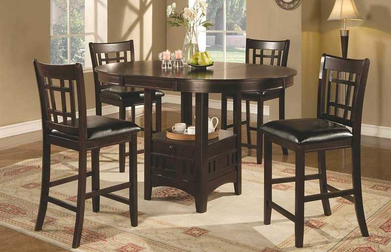 "Lavon 24"" Counter Stools Black and Espresso"
