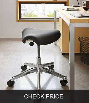 2xhome Ergonomic Rolling Saddle Stool Office Chair
