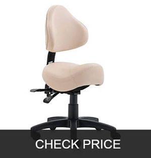 Dr.lomilomi 2-Way Adjustments Saddle Stool Chair