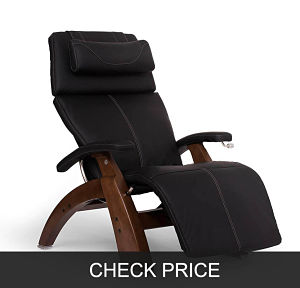 "Perfect Chair ""PC-420"" Zero-Gravity Dark Walnut Manual Recliner"