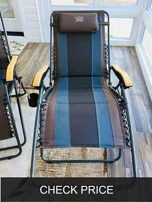 Timber Ridge Zero Gravity Locking Patio Lounger Chair
